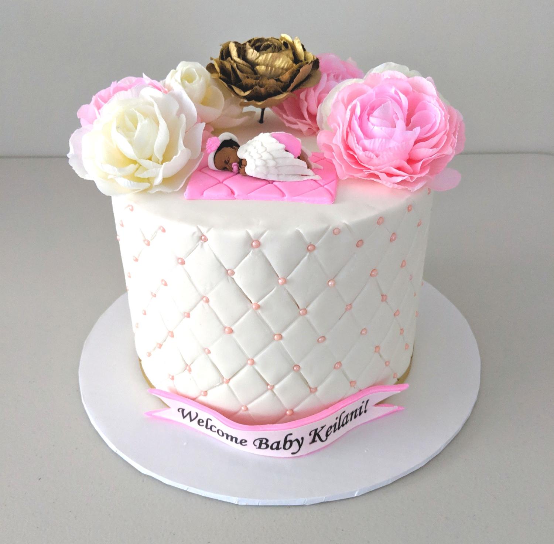 """""""Precious Baby"""" Shower Cake"""