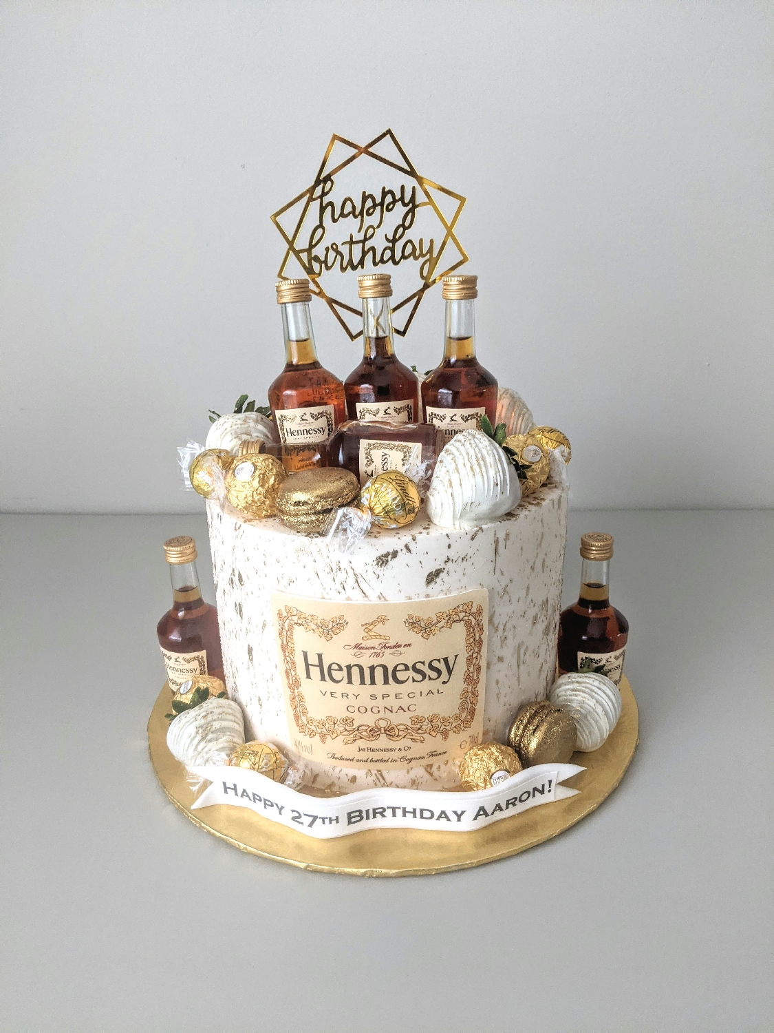 Hennessy Adult Beverage Cake