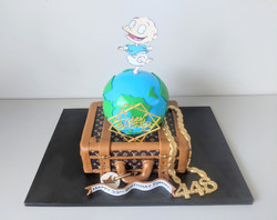 Louis Vuitton And Travel Birthday Cake