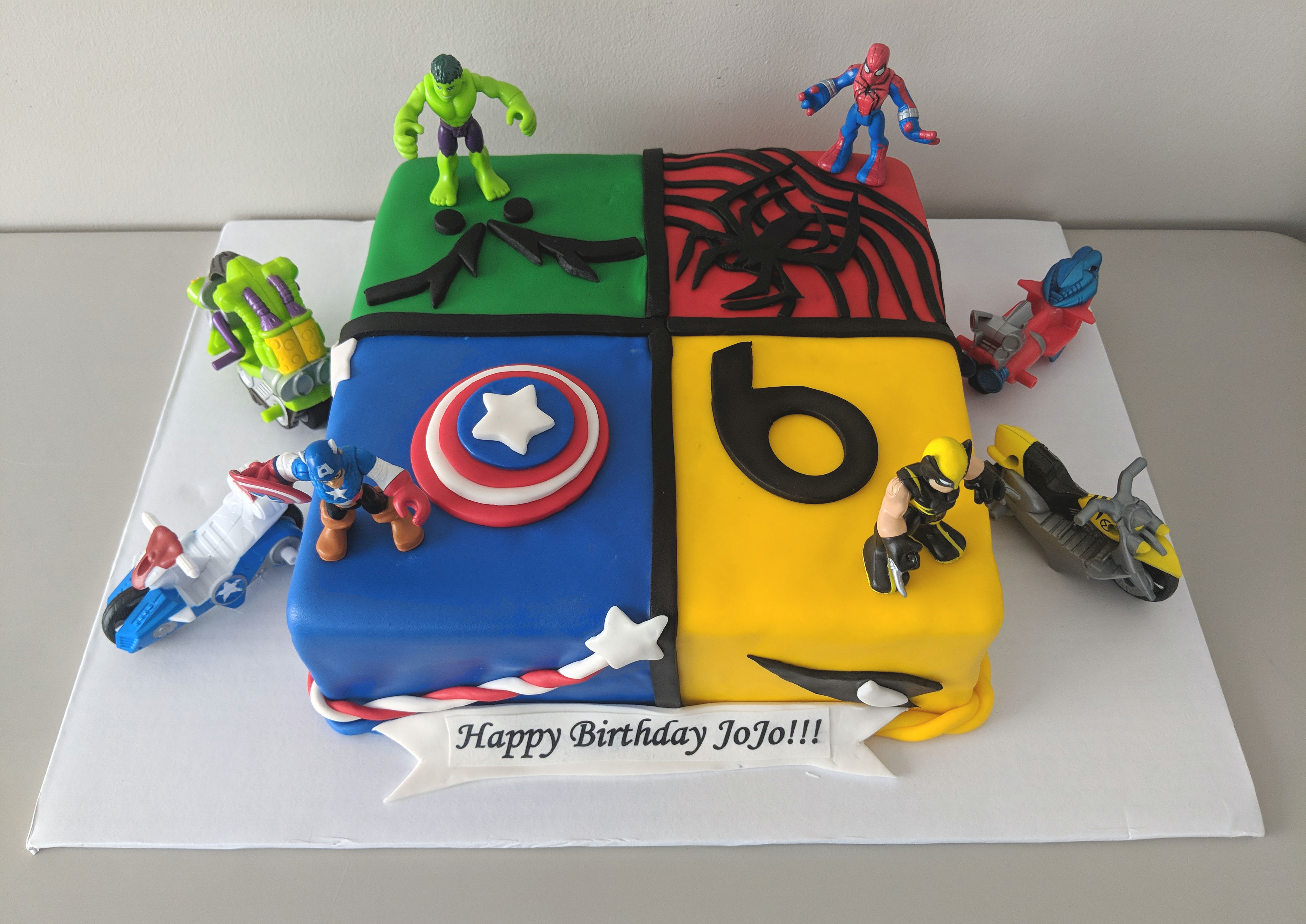 Marvel Characters Cake