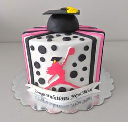 Lady Jordan Graduation Cake