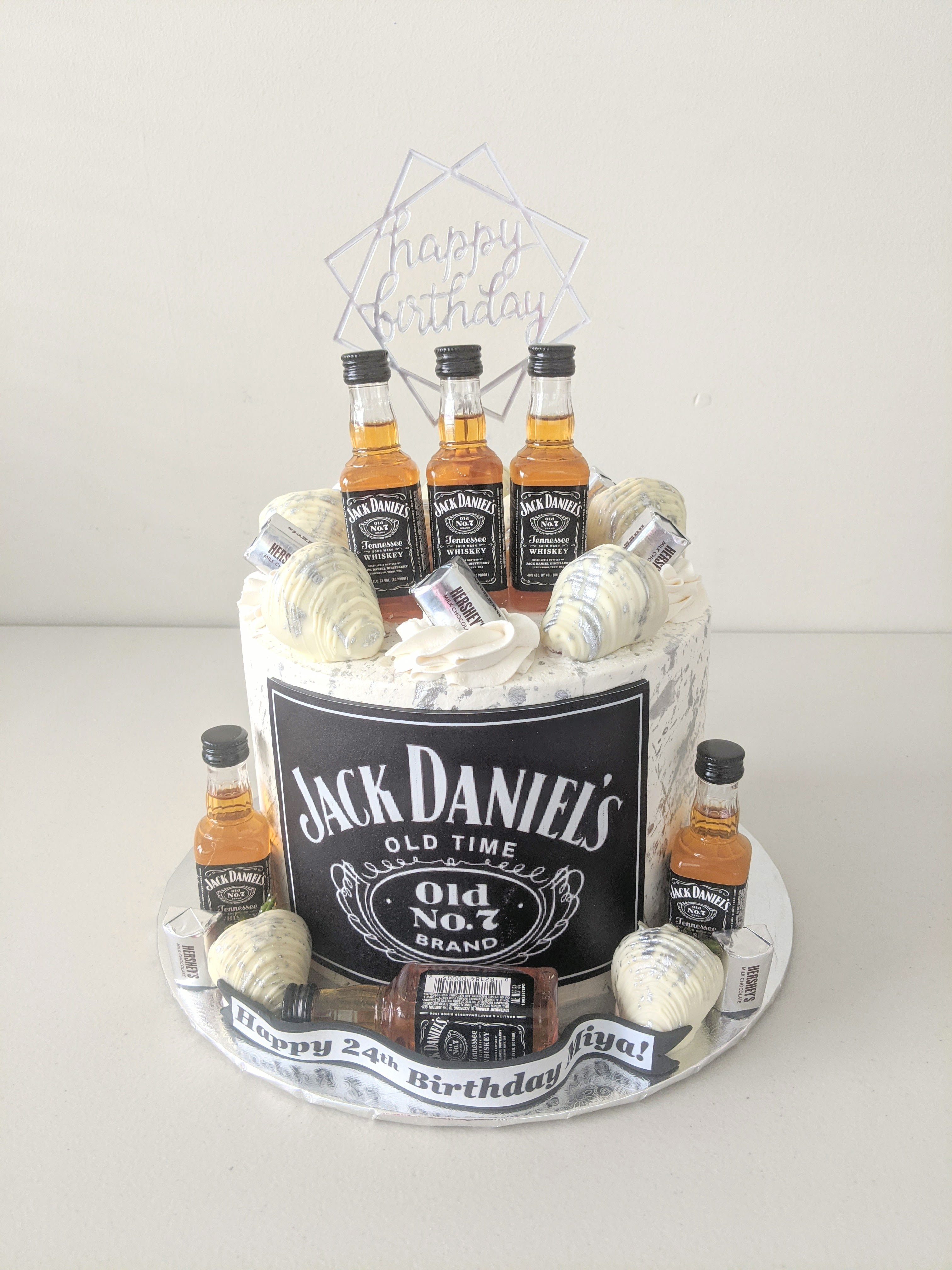 Jack Daniels Adult Beverage Cake