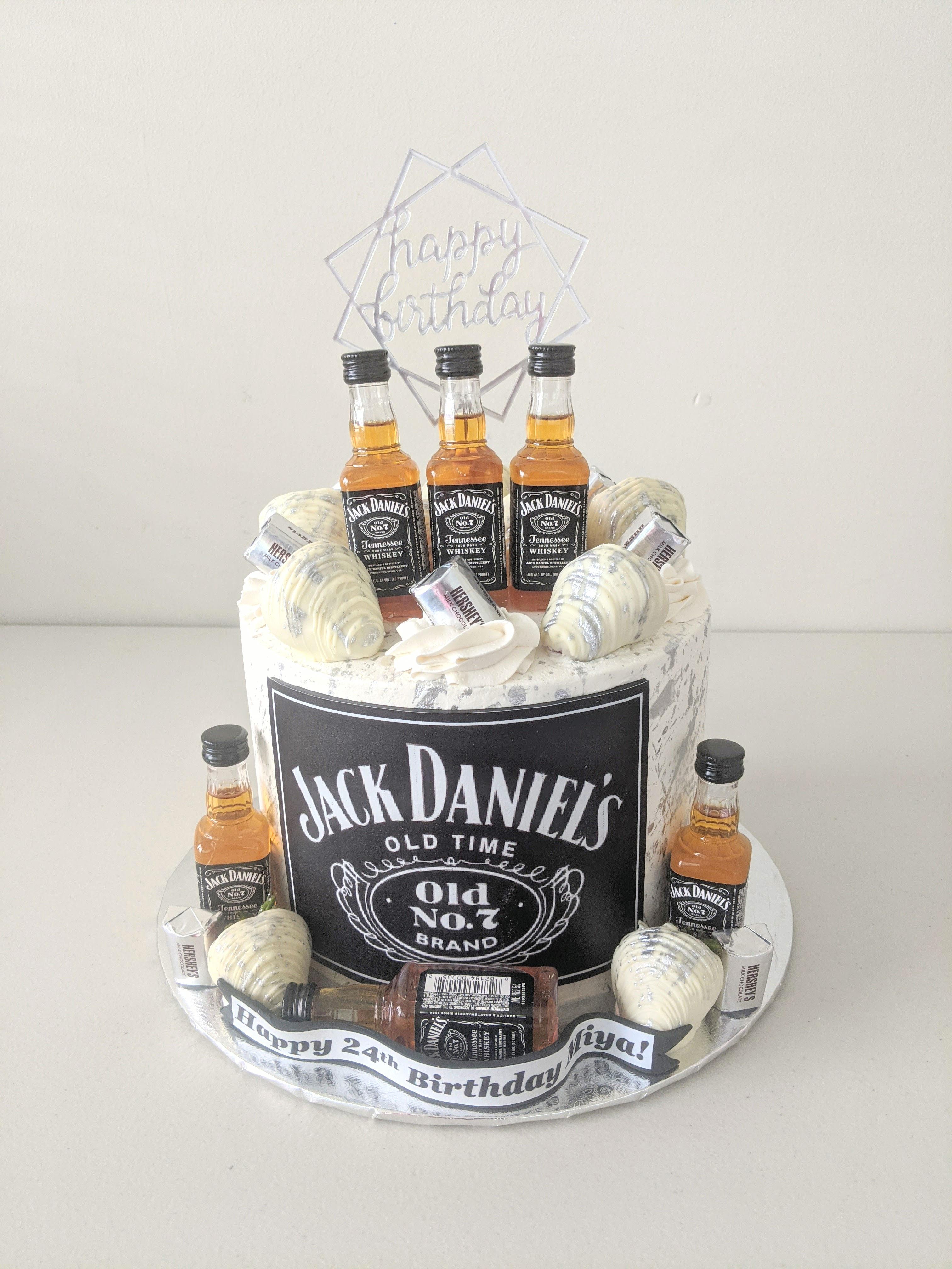 Jack Daniels Adult Beverage Cake