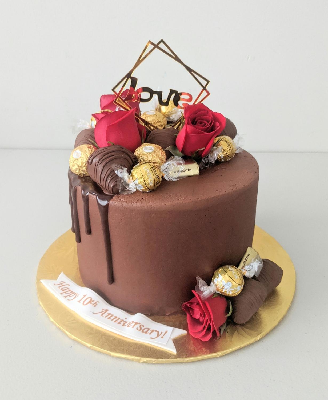 Chocolate Elegance Anniversary Cake