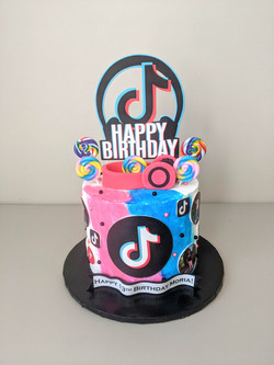 Tik Tok Birthday Cake