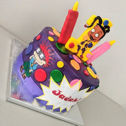 Rugrats Birthday Cake (side view)