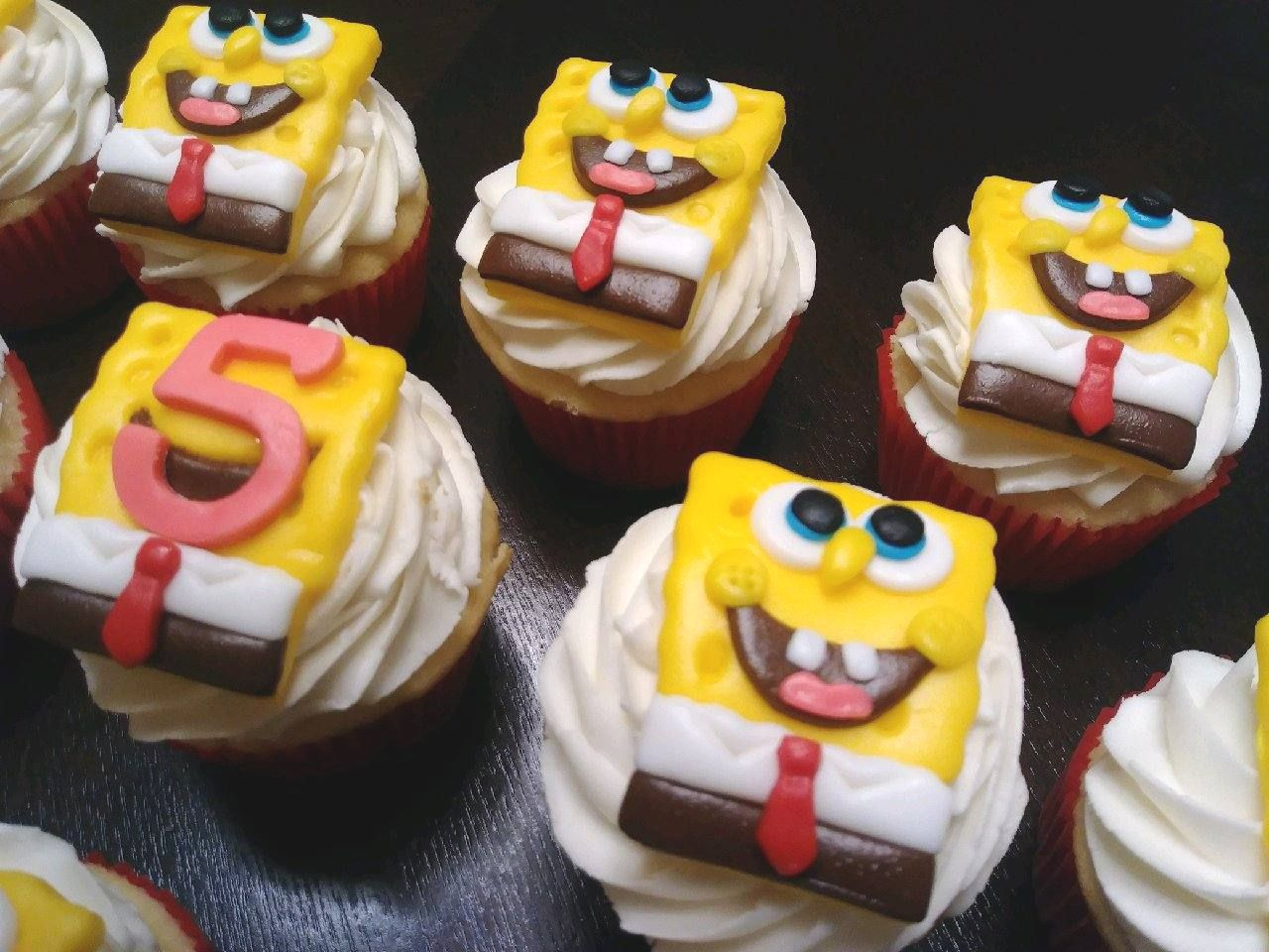Spongebob Cupcakes