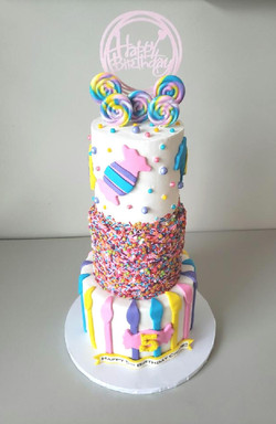 Candy Love Birthday Cake