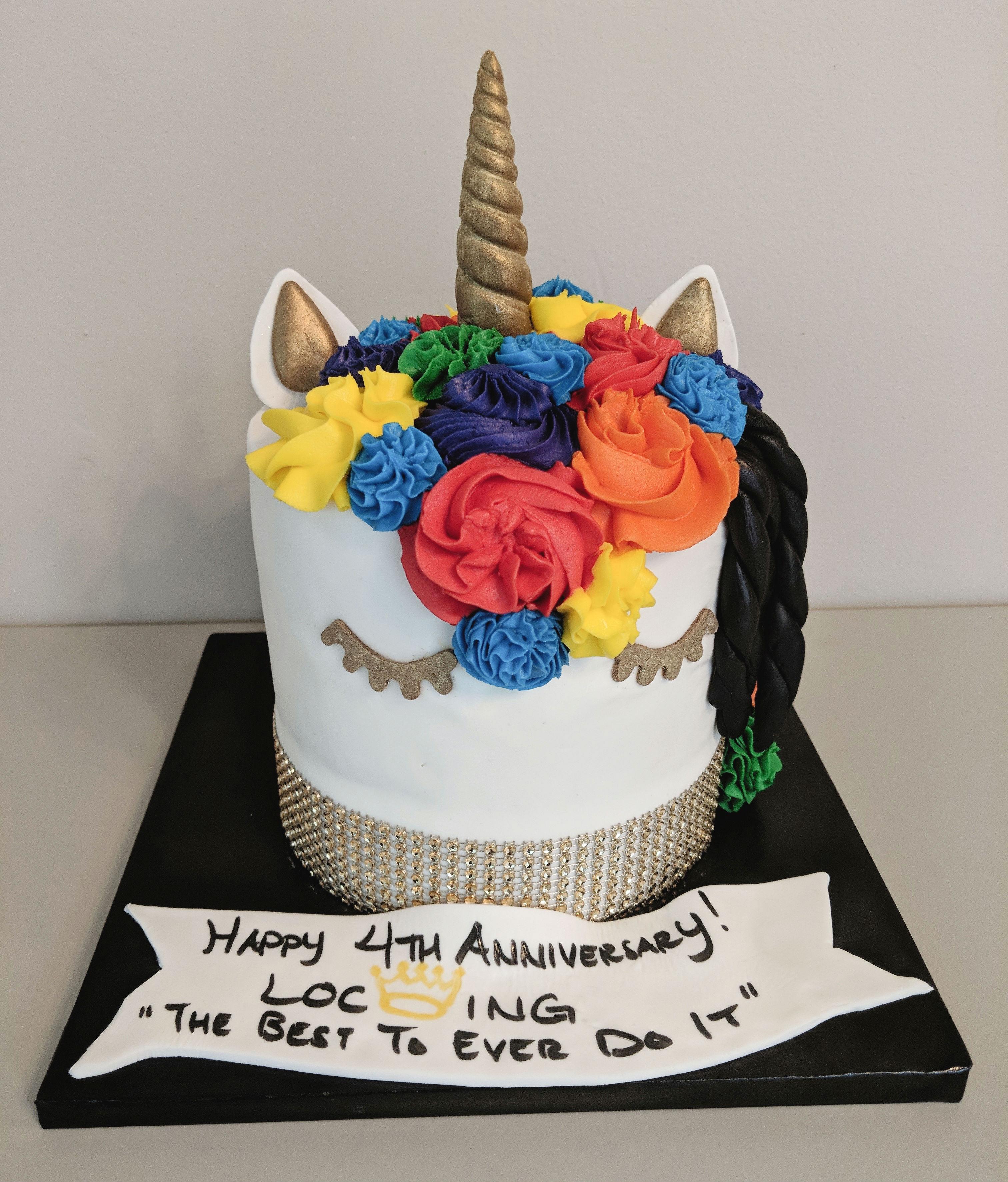LGBTQ Unicorn Cake (front)