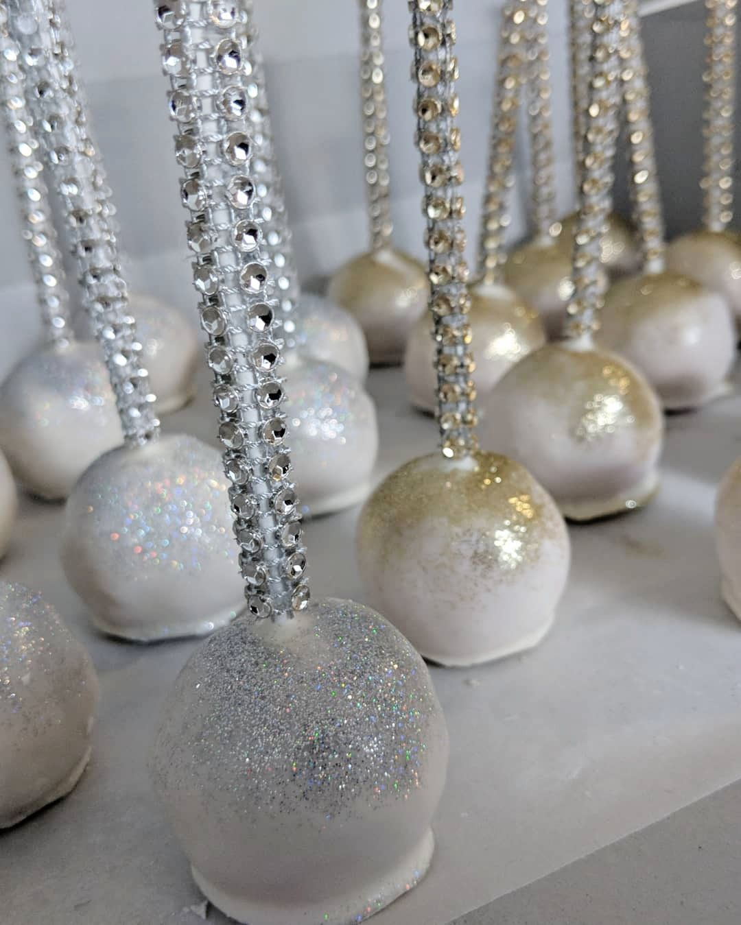 Silver & Gold Cake Pops
