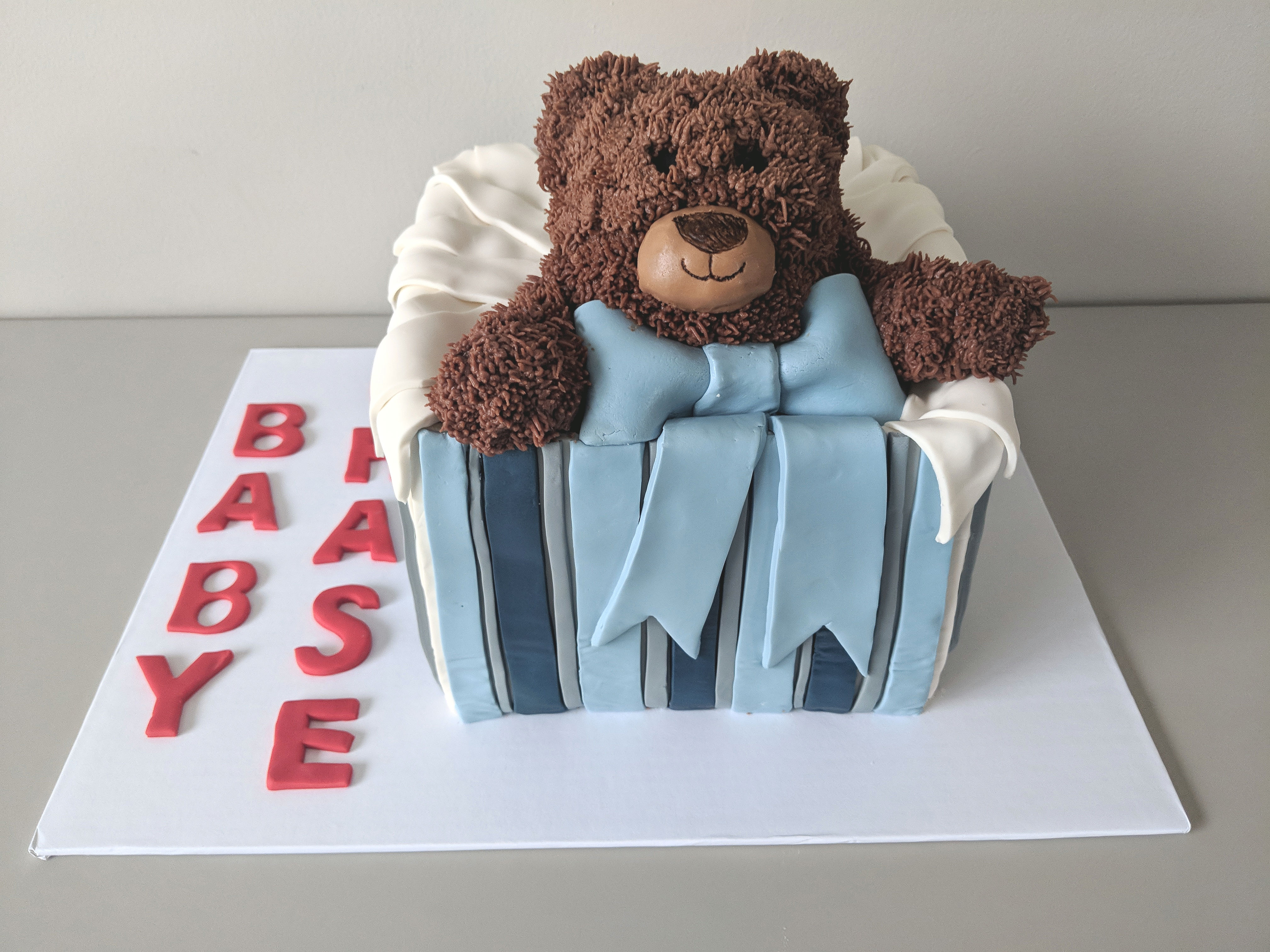 Teddy Bear Shower Cake