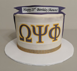 Omega Psi Phi Birthday Cake