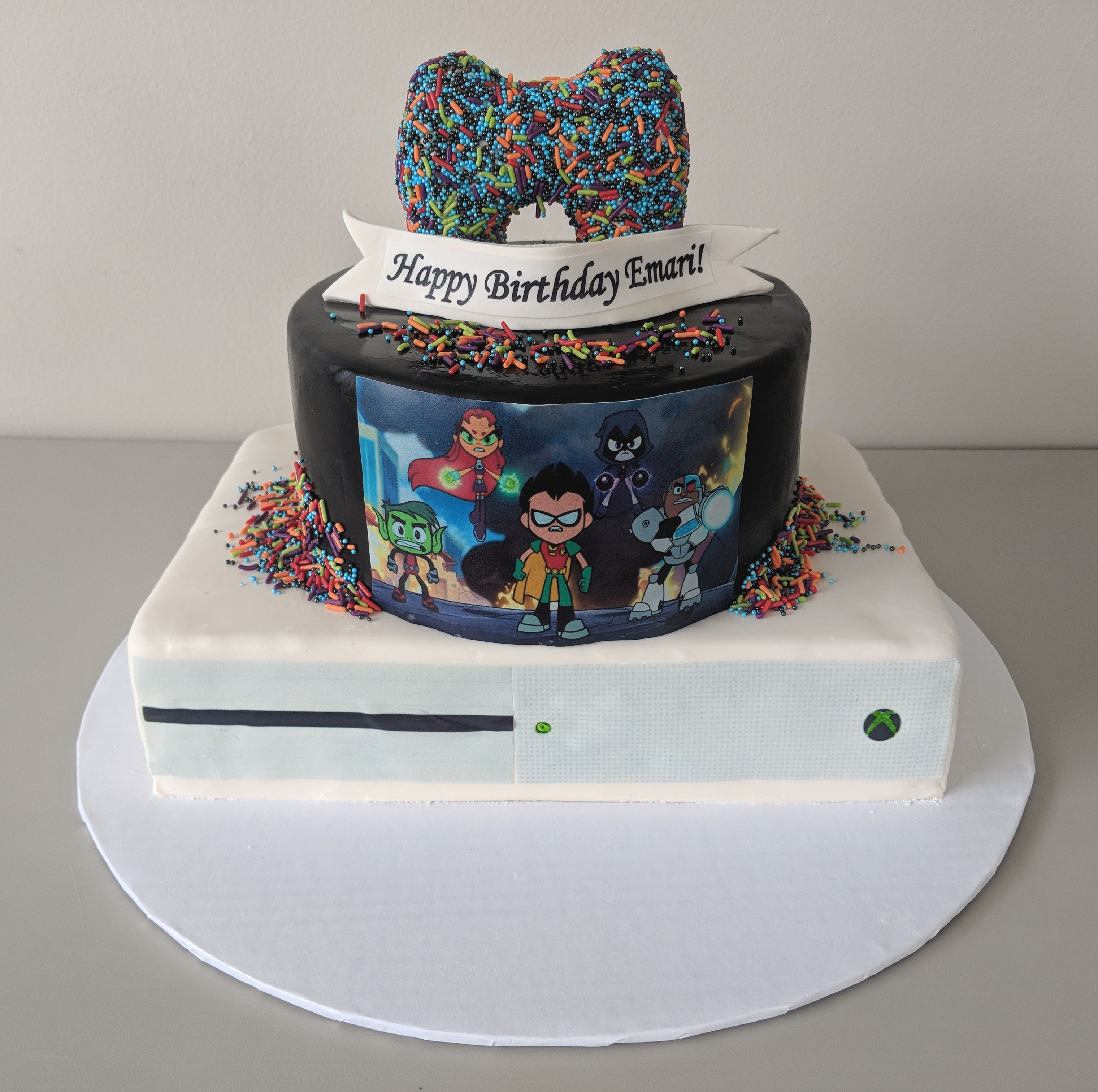 Teen Titans Xbox Birthday Cake