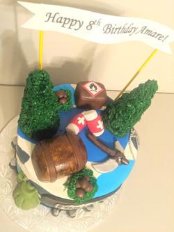 Fortnite Birthday Cake (closer look)