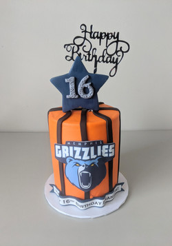 Memphis Grizzlies Barrel Cake