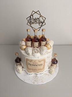 Hennessy Adult Beverage Cake