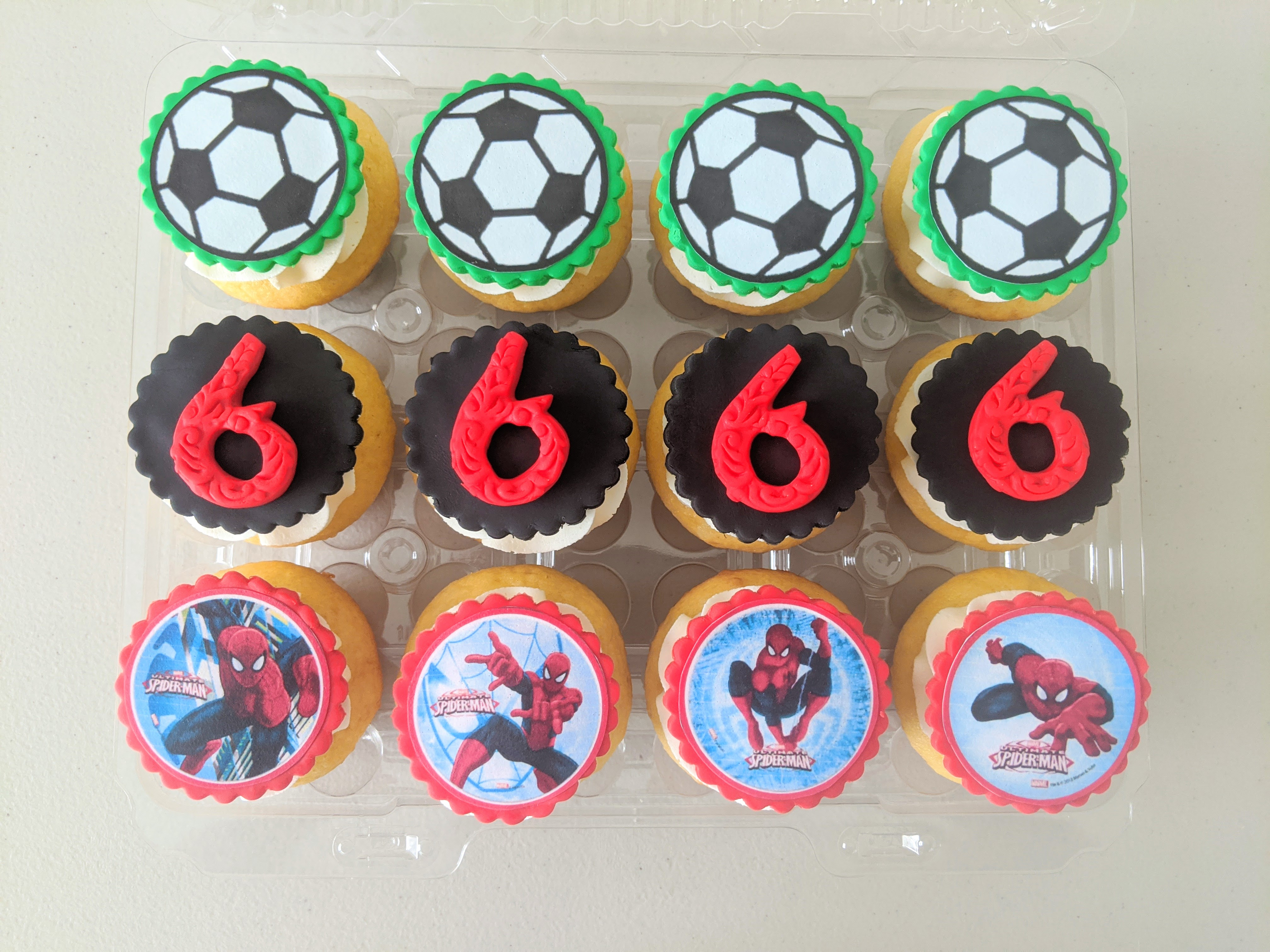 A Boy's Faves Birthday Cupcakes