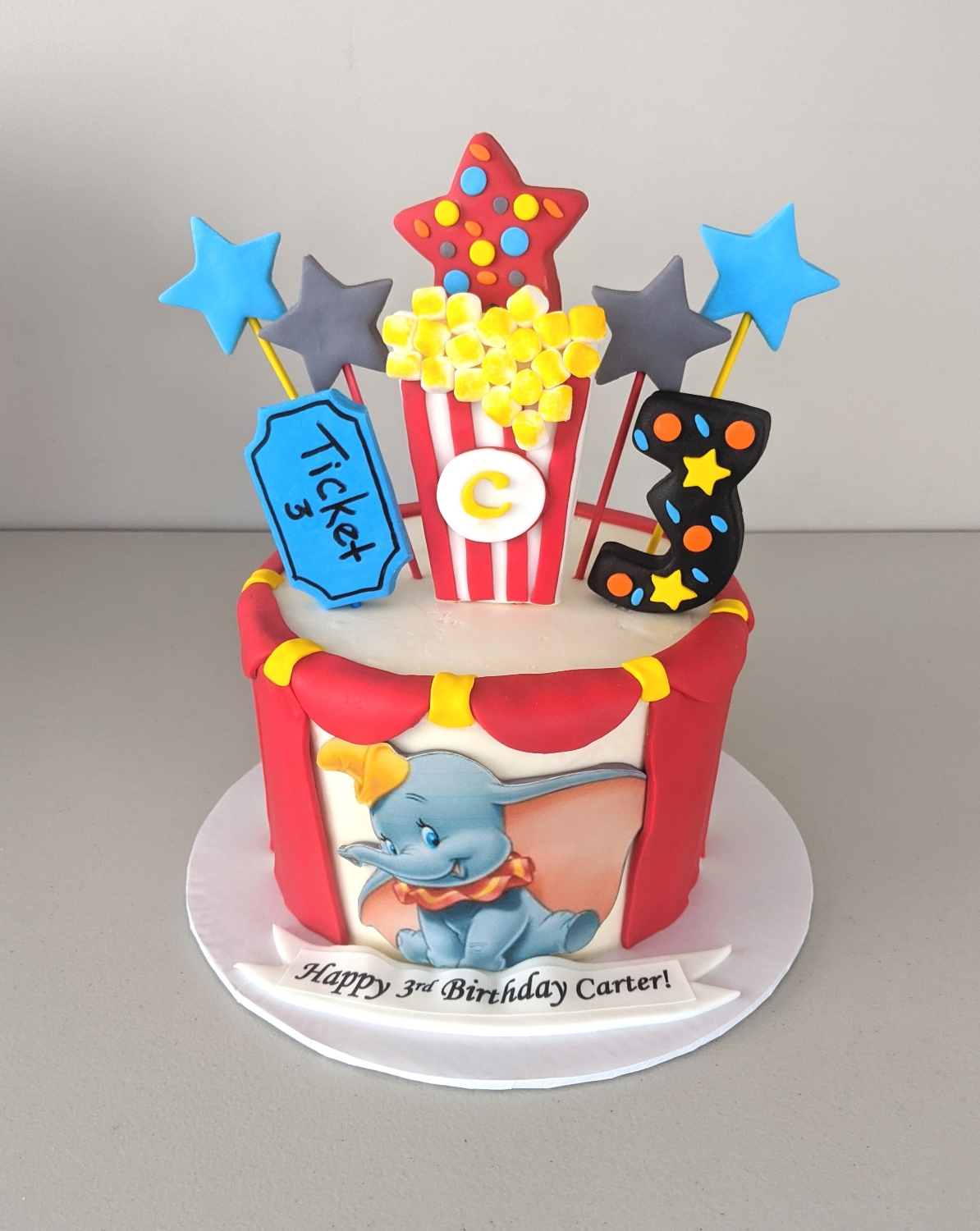 Dumbo Circus Birthday Cake