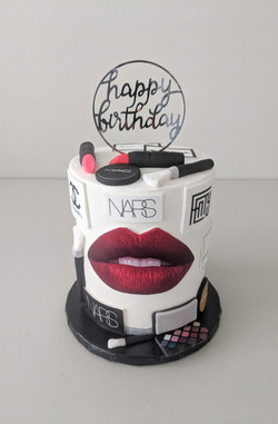 MUA themed Birthday Cake