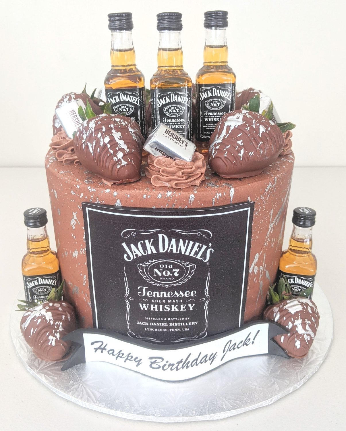 Jack Daniel's Adult Beverage Cake