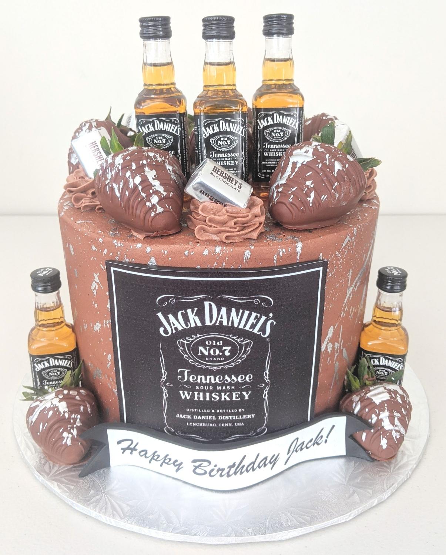 Jack Daniel's Adult Beverage Cake