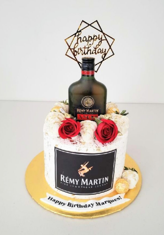 Remy Martin Adult Beverage Cake