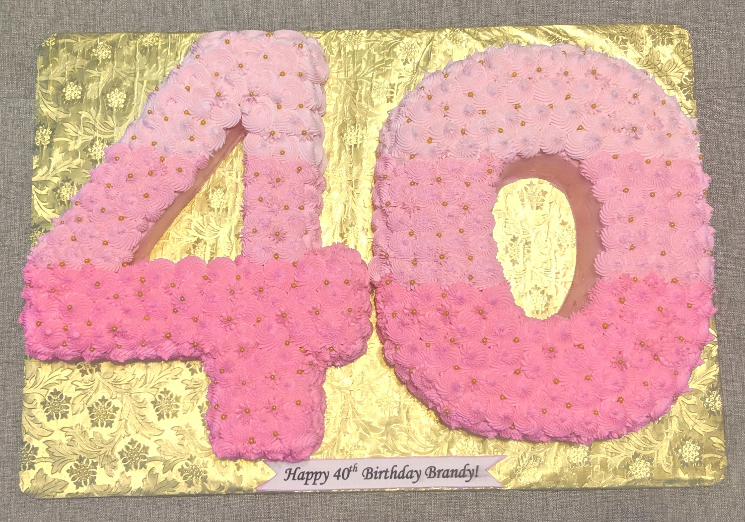 40th Birthday Number Cake