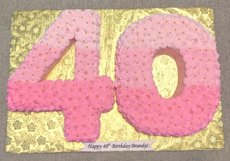 40th Birthday Number Cake