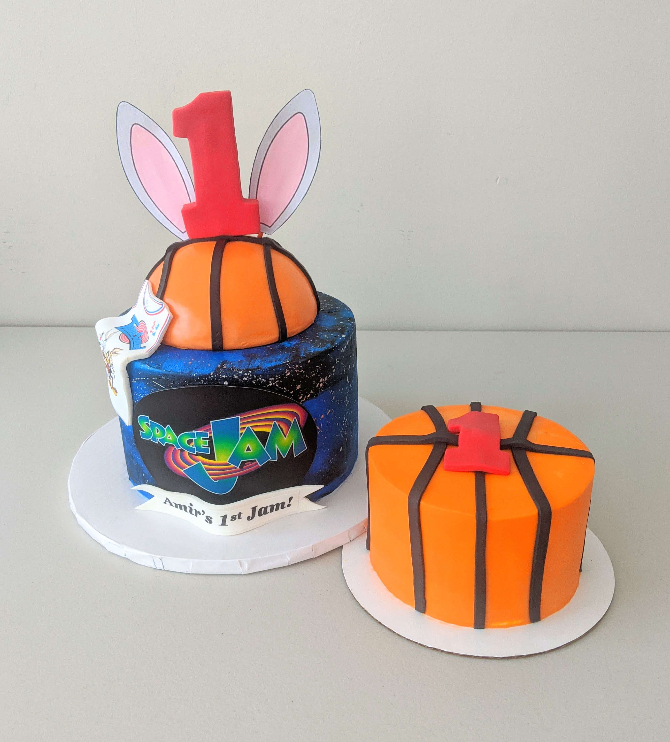 Space Jam Cake and Smash Cake