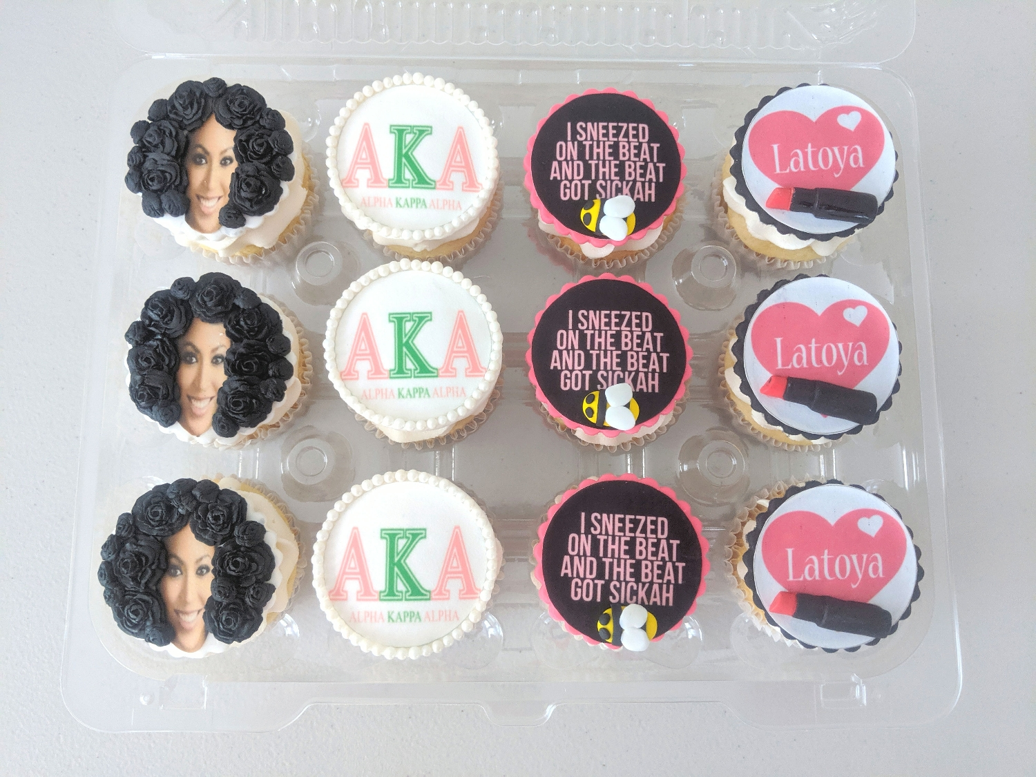 Beyonce, AKA, & MUA Cupcakes