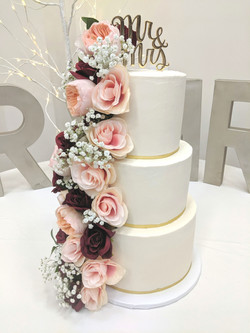 """The Rileys"" Wedding Cake"