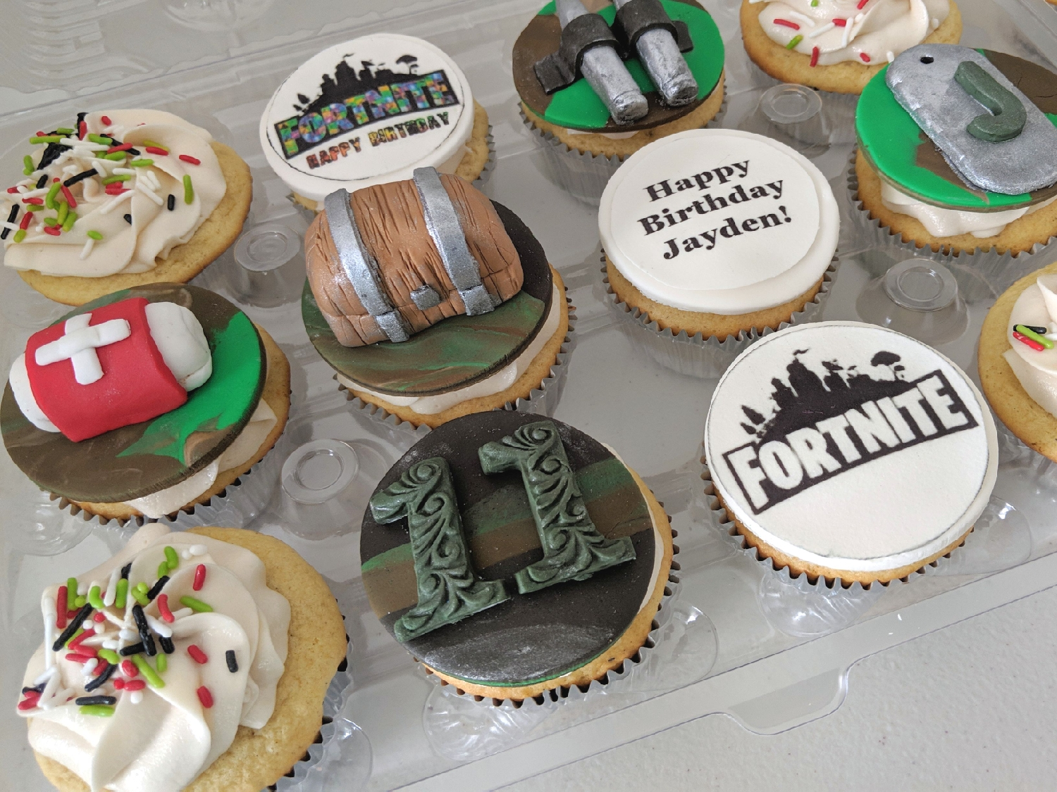 Fortnite Birthday Cupcakes
