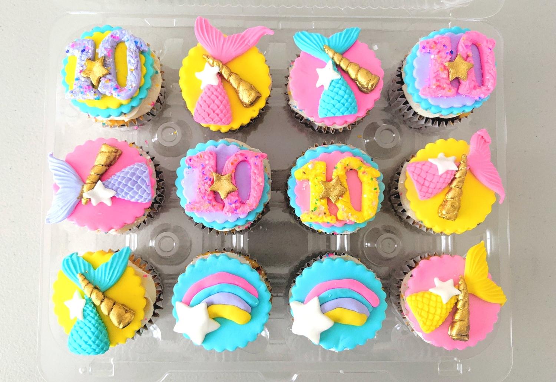 Mermaid Barbie Cupcakes