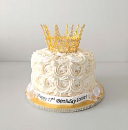 """""""Crown Her"""" Rosette Cake"""