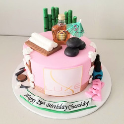 Luxe Spa Birthday Cake