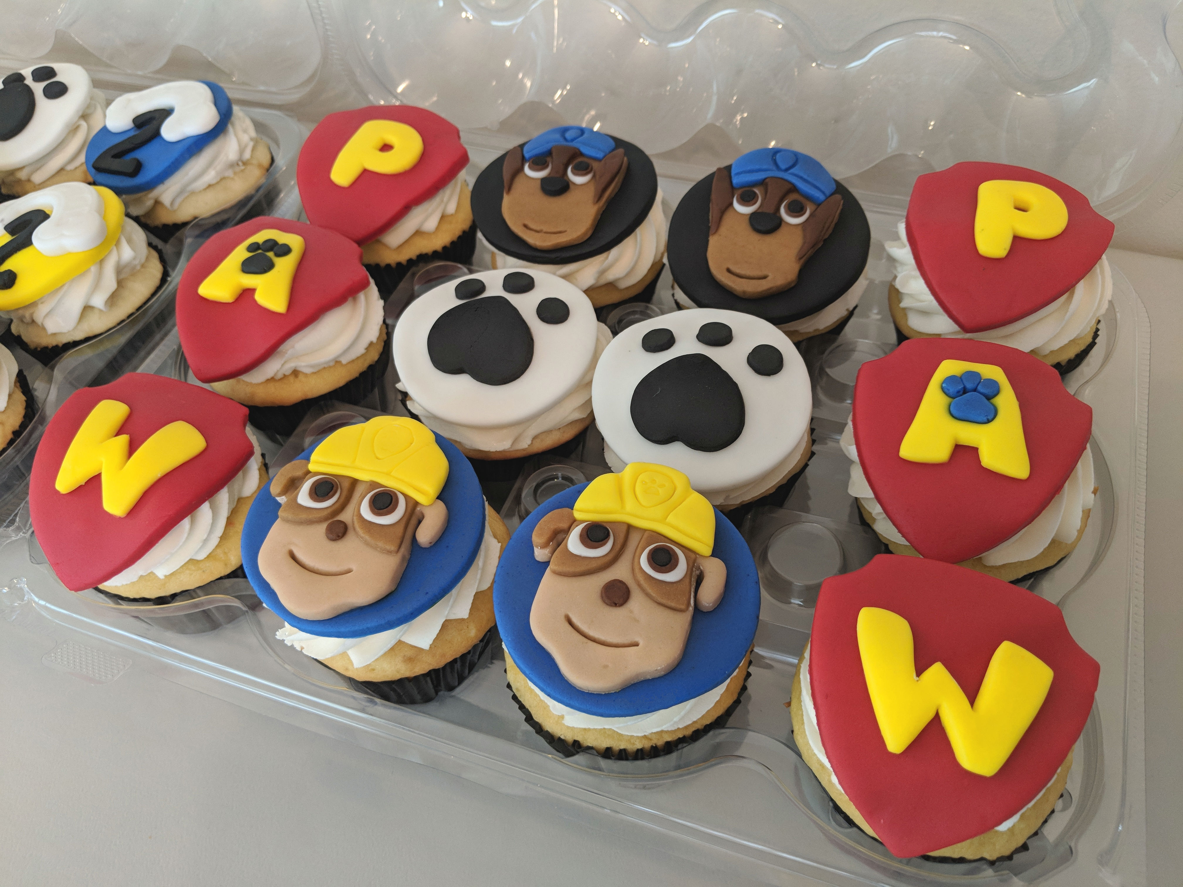Paw Patrol Theme Cupcakes