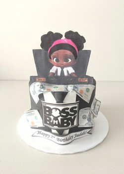 Boss Baby Girl Birthday Cake