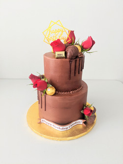 Chocolate Elegance Two Tiered Cake