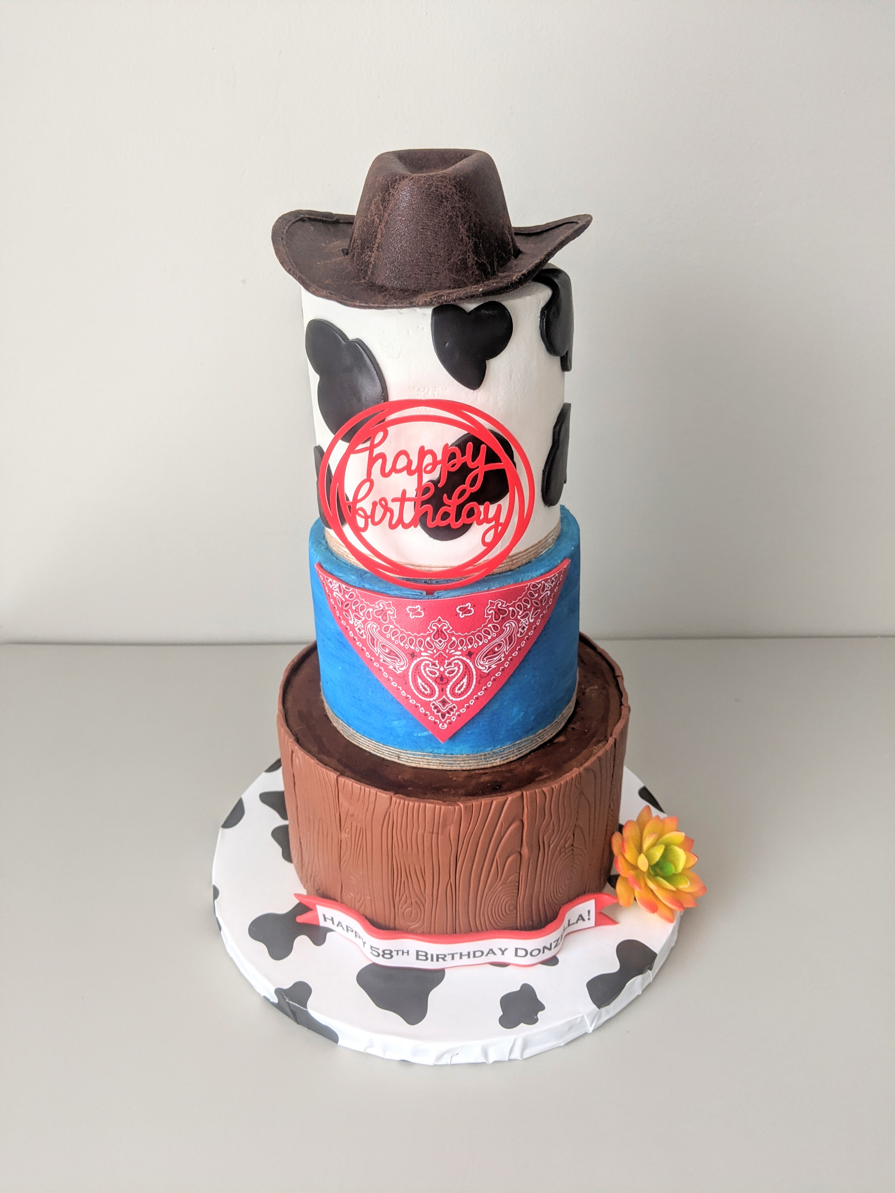 Western Birthday Cake