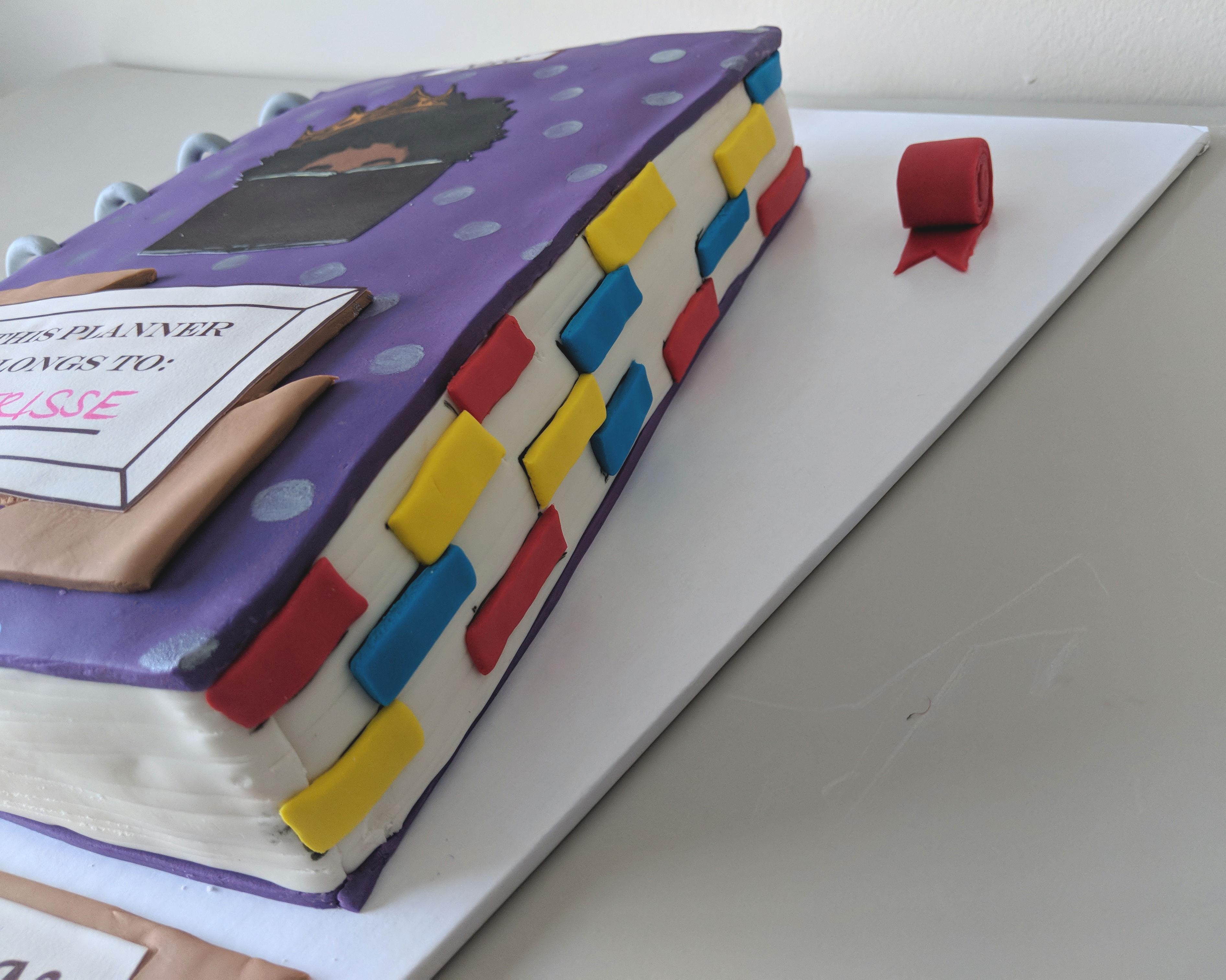 Planner Addict Birthday Cake (side)