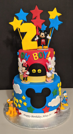 Mickey & Friends Birthday Cake