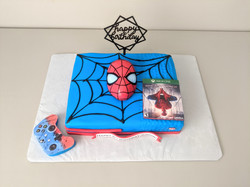 Spider Man Game Birthday Cake