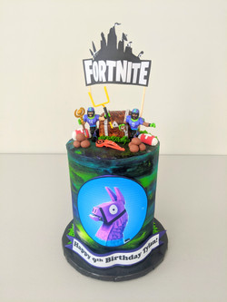 Fortnite Football Birthday Cake