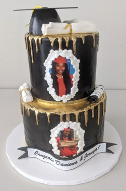 Dual Graduation Cake