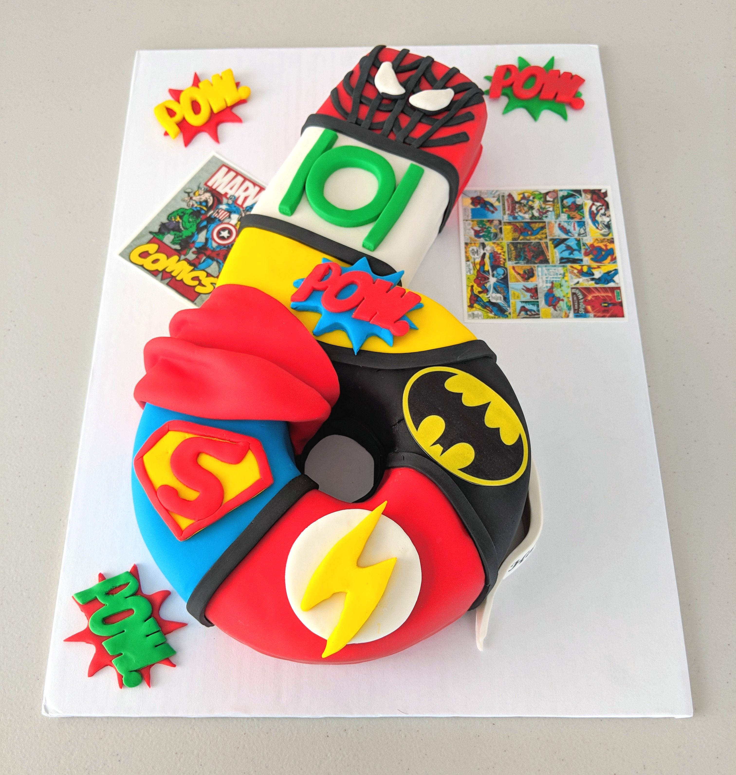 Marvel Superheros Themed Cake