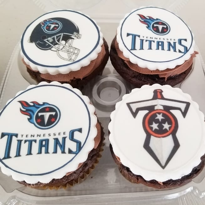 Tennessee Titans Cupcakes
