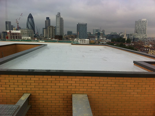 Sarnafil main roof on Jablite cut to falls insulation