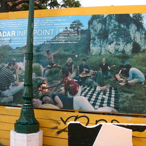 RADAR Infopoint poster, San Giorgio, Venice, 2004.