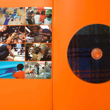 Absences Catalogue, back inside cover with CD Audio disk