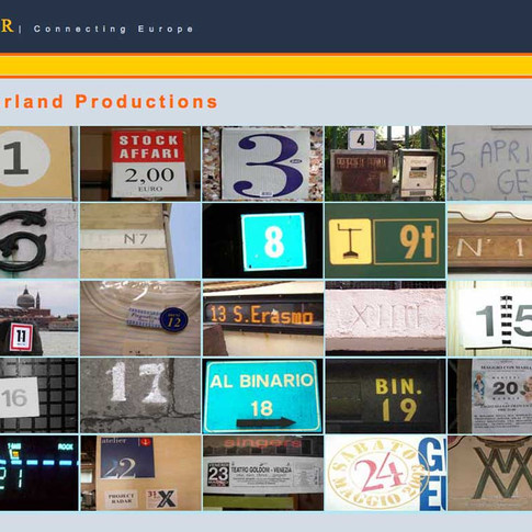 RADAR Project website for Moorland Productions